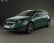 3D model of Opel Insignia Sports Tourer 2013