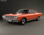 3D model of Plymouth Road Runner 440 hardtop 1970