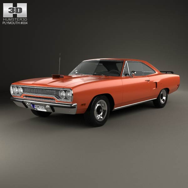 Plymouth Road Runner 440 hardtop 1970 3d car model