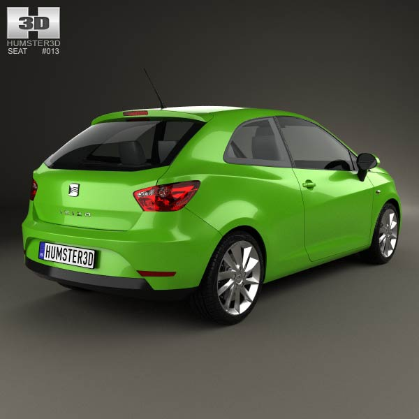 seat ibiza sc 2013 3d model humster3d. Black Bedroom Furniture Sets. Home Design Ideas