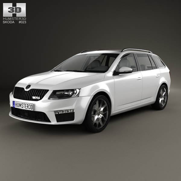 skoda octavia rs combi 2013 3d model humster3d. Black Bedroom Furniture Sets. Home Design Ideas