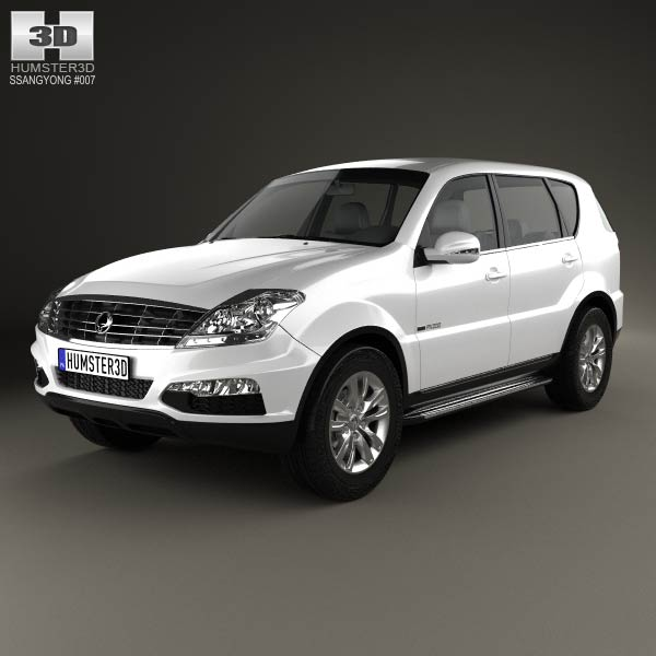 SsangYong Rexton 2012 3d car model