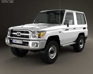 3D model of Toyota Land Cruiser (J71) 3-door 2013