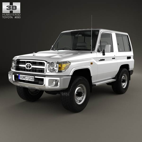 Toyota Land Cruiser (J71) 3-door 2013 3d car model