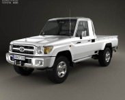 3D model of Toyota Land Cruiser (J79) Single Cab 2007