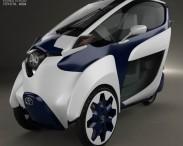 3D model of Toyota i-Road 2013