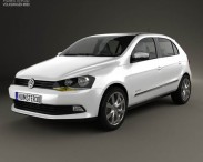 3D model of Volkswagen Gol 5-door 2012