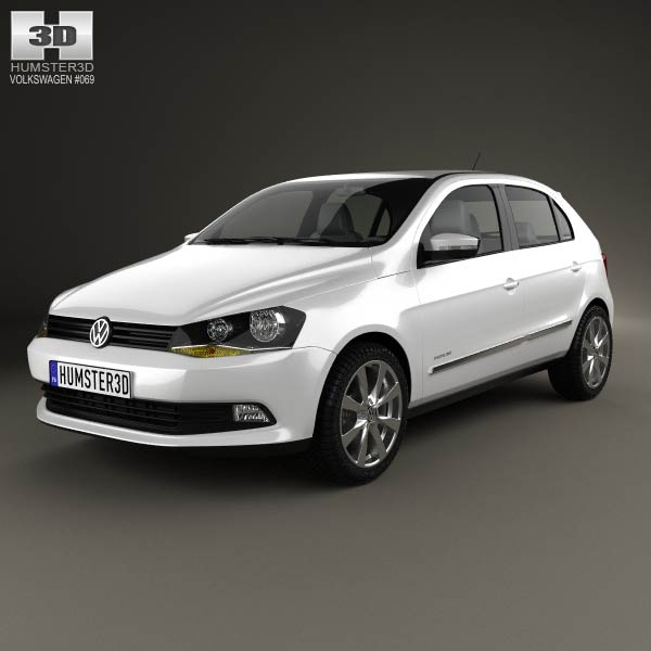 Volkswagen Gol 5-door 2012 3d car model
