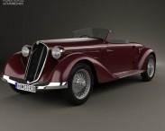 3D model of Alfa Romeo 6C 2300 S Touring Pescara Spider 1935