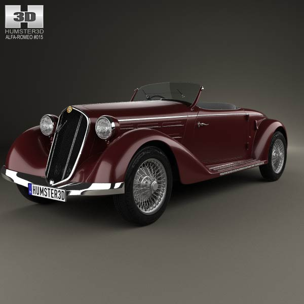 Alfa Romeo 6C 2300 S Touring Pescara Spider 1935 3d car model