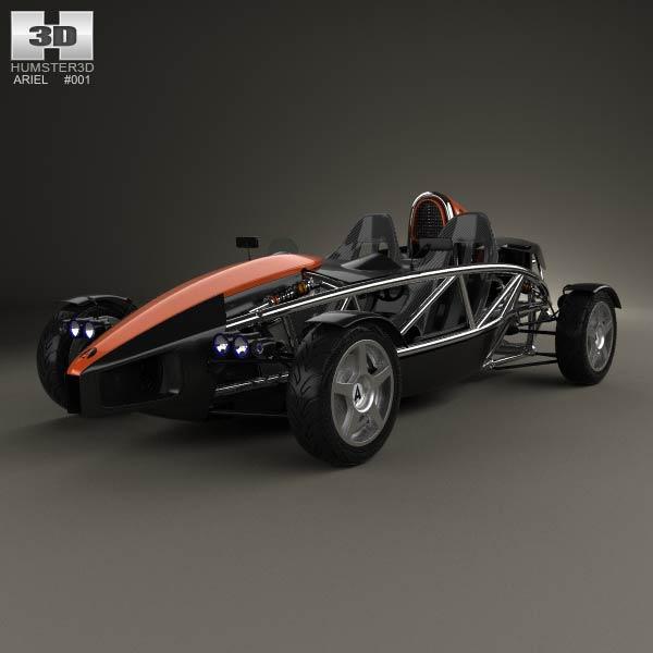 Ariel Atom 2012 3d car model