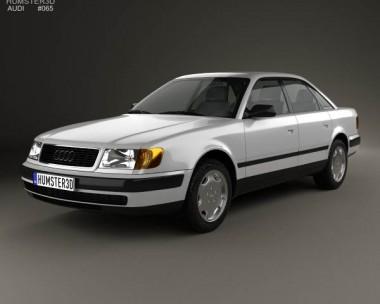 3D model of Audi 100 (C4) sedan 1991