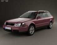 3D model of Audi A6 (C4) avant 1994