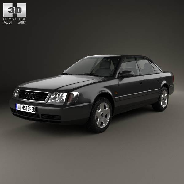 Audi A6 C4 Sedan 1994 3d Model Humster3d