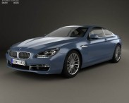 3D model of BMW 6 Series (F13) Coupe 2012