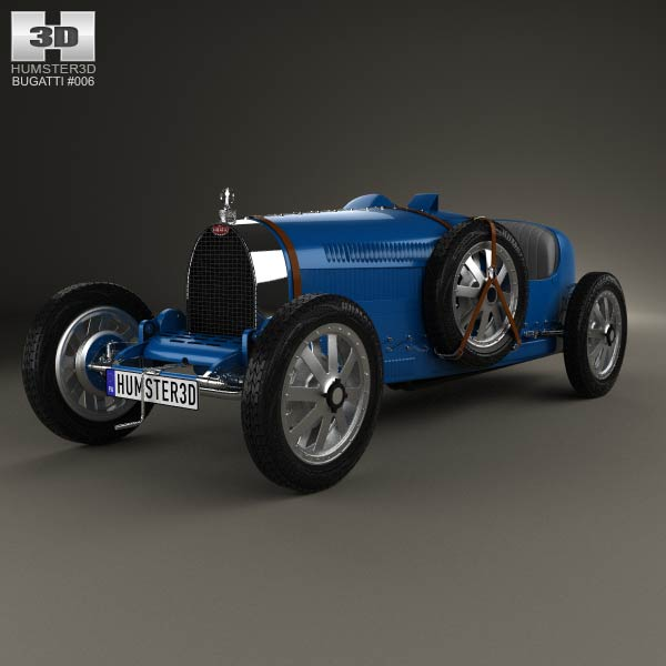 Bugatti Type 35 1924 3d car model
