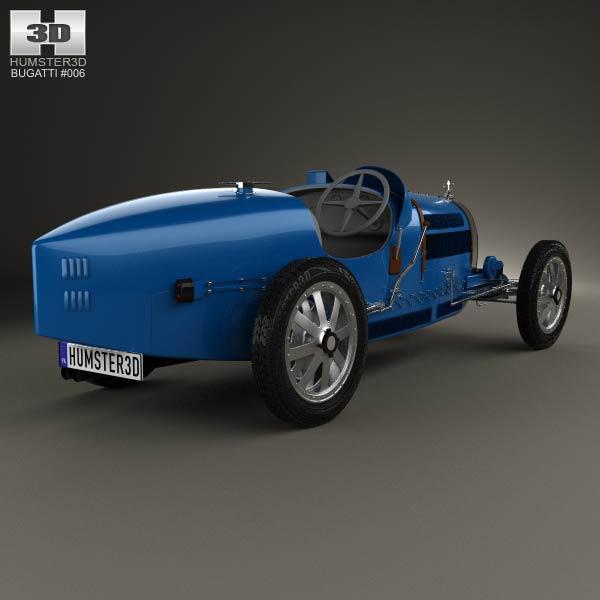 Bugatti Type 35 1924 3d model
