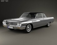 3D model of Buick Wildcat convertible 1963