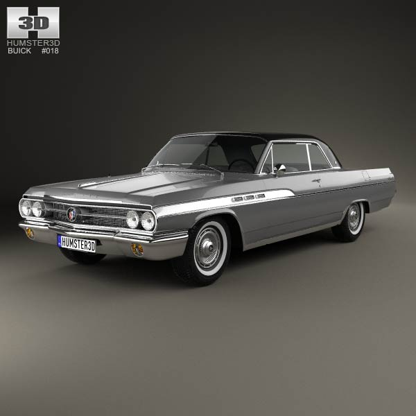 Buick Wildcat convertible 1963 3d car model