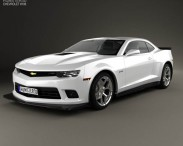 3D model of Chevrolet Camaro Z28 coupe 2014