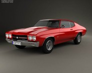 3D model of Chevrolet Chevelle SS 396 hardtop coupe 1970
