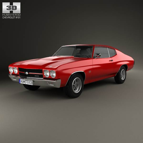 Chevrolet Chevelle SS 396 hardtop coupe 1970 3d car model