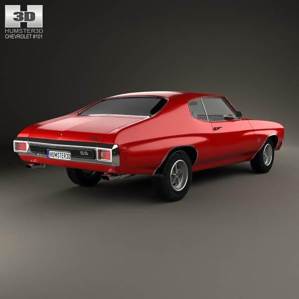 Chevrolet Chevelle SS 396 hardtop coupe 1970 3d model