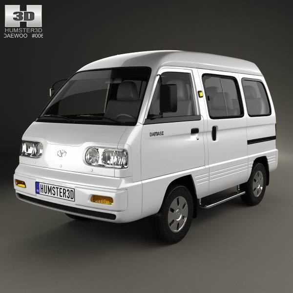 Daewoo Damas 2012 3D model - Humster3D
