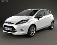 3D model of Ford Fiesta Zetec 5-door hatchback 2012