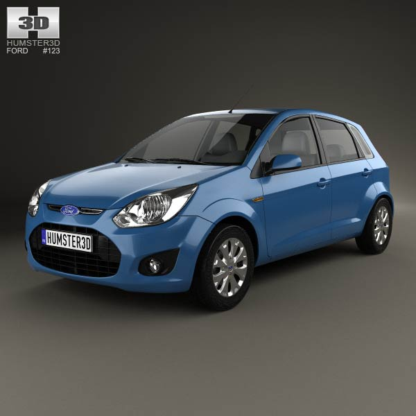 Ford Figo (Ikon Hatch) 2012 3d car model
