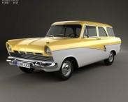 3D model of Ford Taunus P2 17M kombi 1957