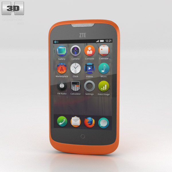 3D model of GeeksPhone ZTE Open