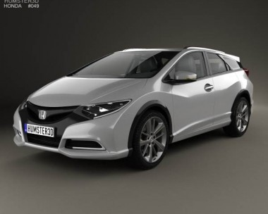 3D model of Honda Civic tourer 2013