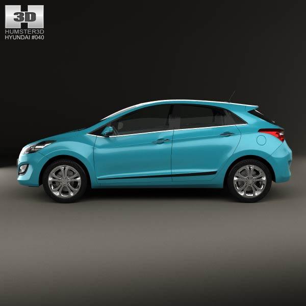 3d model of hyundai i30 5 door hatchback eu 2013