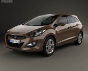 3D model of Hyundai i30 5-door wagon (EU) 2013