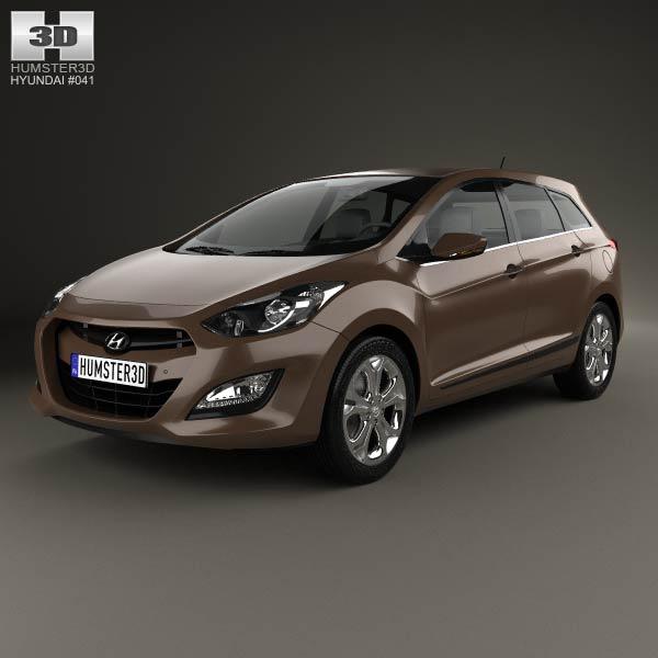 3D model of Hyundai i30 5-door wagon (EU) 2013
