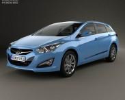 3D model of Hyundai i40 Tourer EU 2012