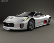 3D model of Jaguar C-X75 2013