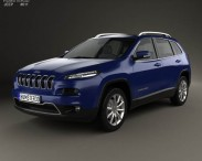 3D model of Jeep Cherokee Limited 2014