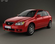 3D model of Kia Cerato (Spectra) hatchback 2004