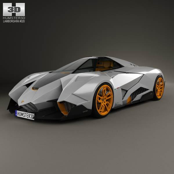 Lamborghini Egoista 2013 3d car model