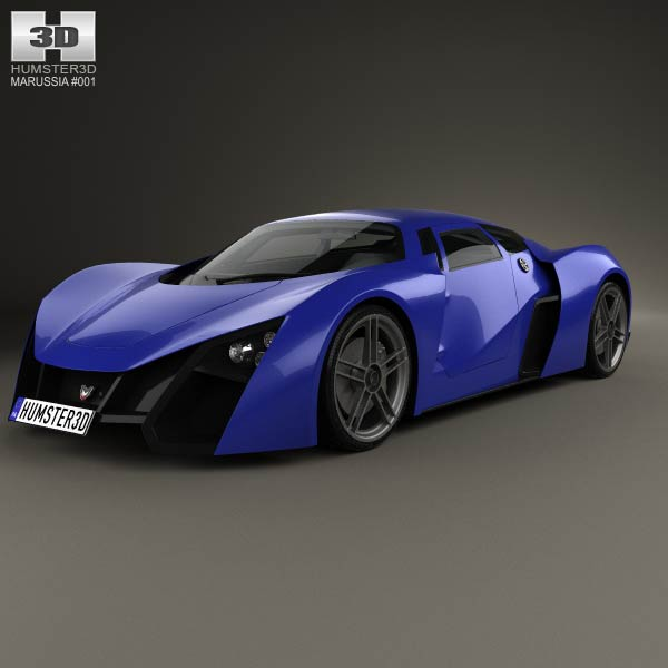 Marussia B2 2010 3d car model
