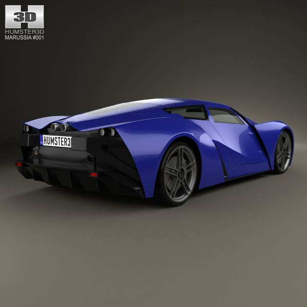 Marussia B2 2010 3d model