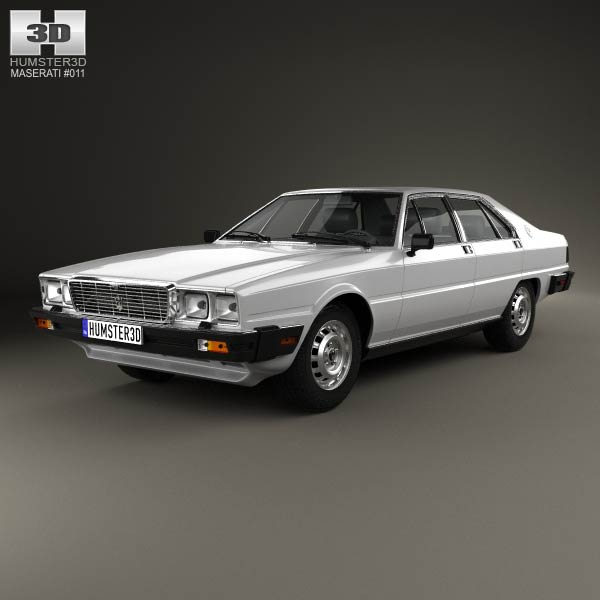 Maserati Quattroporte (Royale) 1979 3d car model