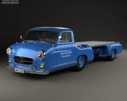 3D model of Mercedes-Benz Blue Wonder Renntransporter 1954