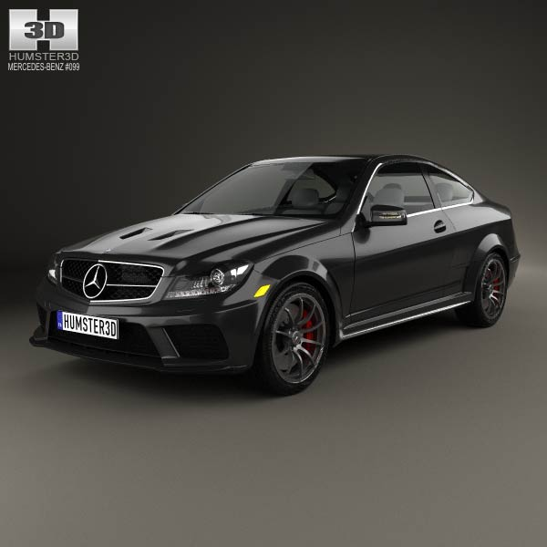 Mercedes-Benz C-Class 63 AMG Coupe Black Series 2012 3d car model