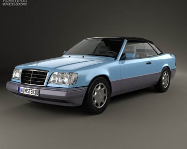3D model of Mercedes-Benz E-class convertible 1993
