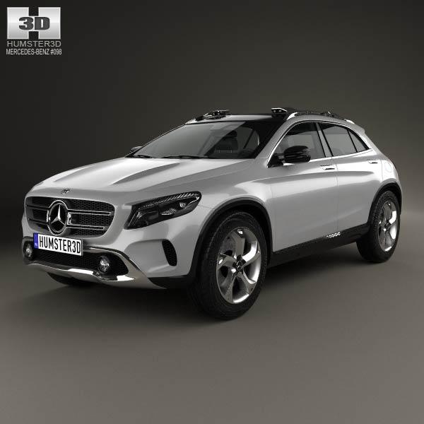 Mercedes benz gla class concept 2013 3d model humster3d for 2013 mercedes benz gla