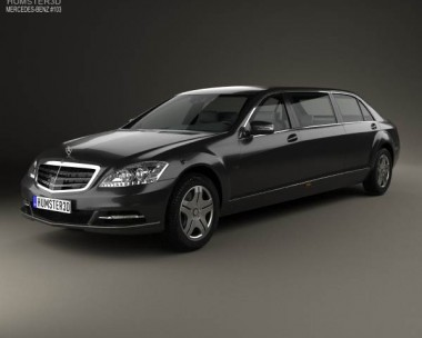 3D model of Mercedes-Benz S-Class (W221) Pullman 2012
