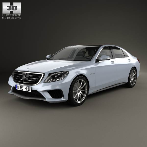 Mercedes-Benz S-Class 63 AMG (W222) 2014 3d car model